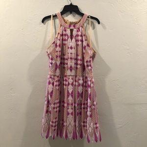 Pink and Purple Lace Dress